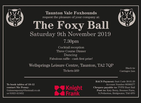 TVFH Hunt Ball 9th November