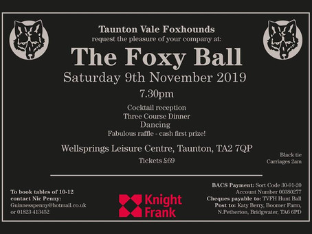TVFH Hunt Ball 9th November