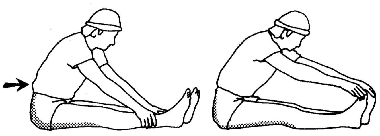 Hamstring-gluteus-Stretching