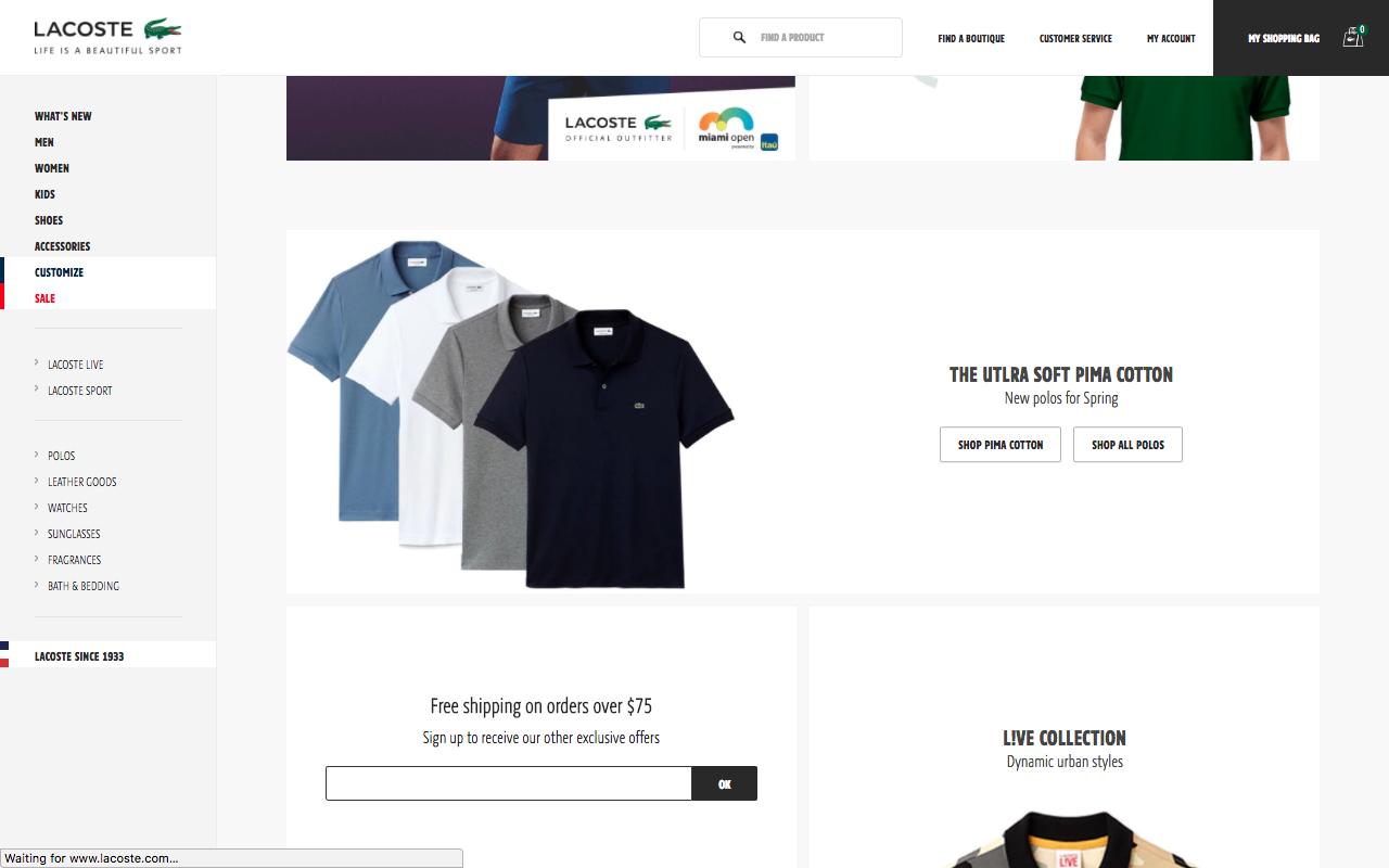 Paris Polo Home Page Screenshot