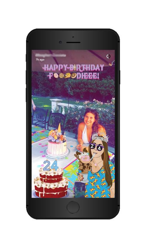 Foooodieee birthday filter