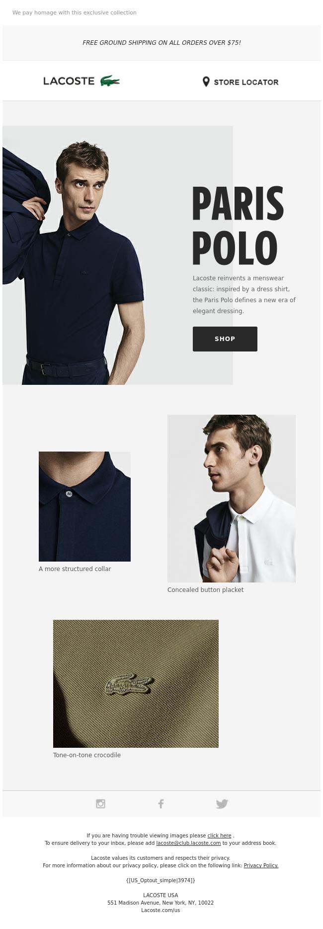 Paris Polo Launch Email