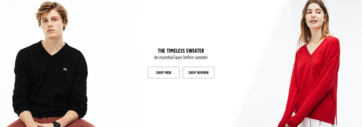 Sweaters Home Page Banner Ad