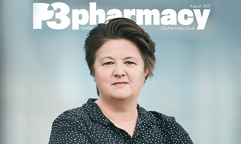 Anna Maxwell on the front cover of P3Pharmacy magazine August 2021