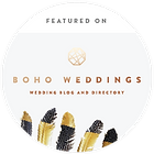 Boho Weddings featured on badge 300x300-