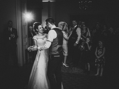 first dance rudding park wedding photo