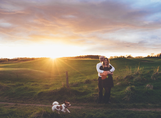 A Sunset Danes Dyke Engagement Session | Charley & Chris