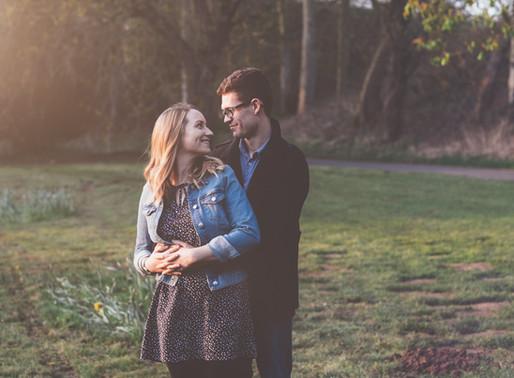 Sunset Danes Dyke Engagement | Rhiannon & Dan