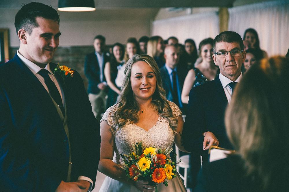 Barn at willerby wedding ceremony