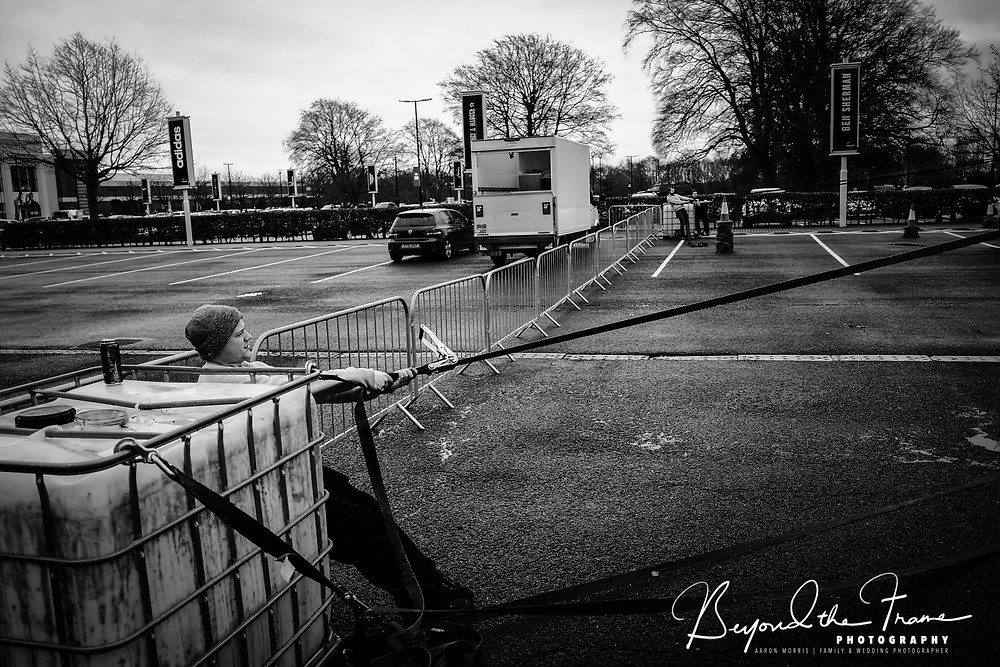 Moonlight drive-in cinema documentary style behind the scenes setup photo shoot in york