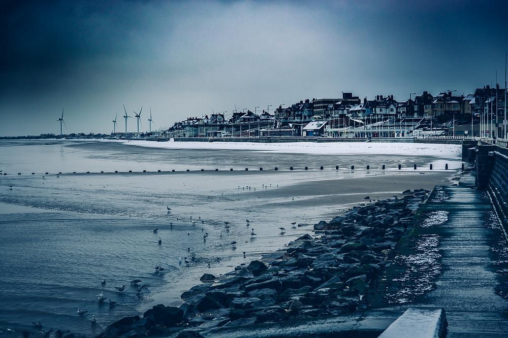 Snow on Bridlington Beach - Bridlington Landscape Photographer Aaron Morris