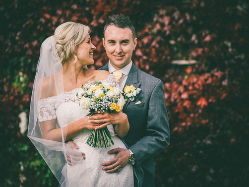Summer Tickton Grange Wedding Photo bride and groom portrait