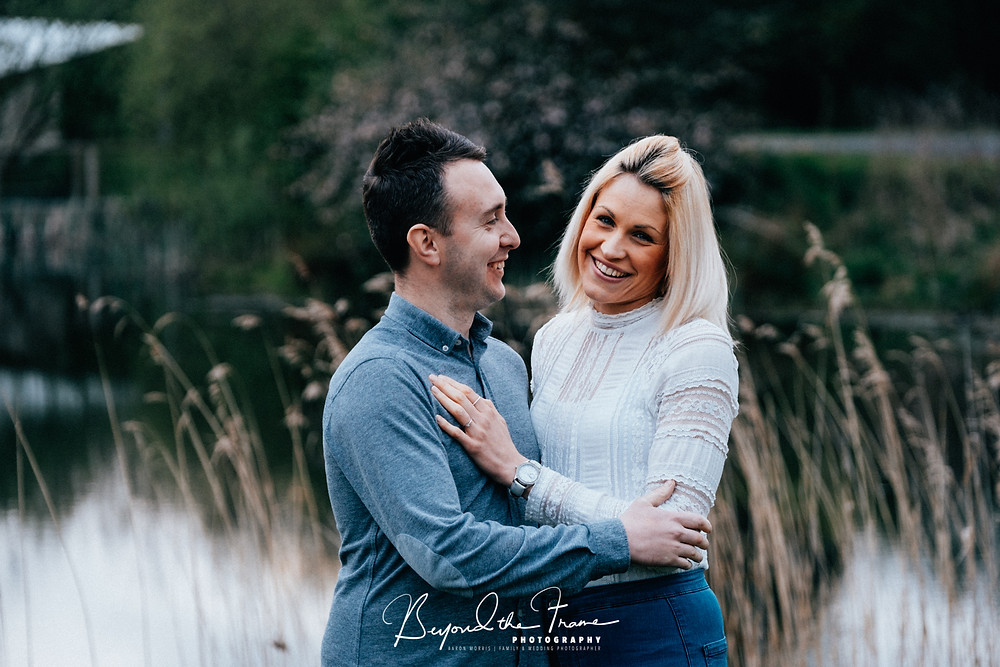 engaged couple at Oaklands wedding venue