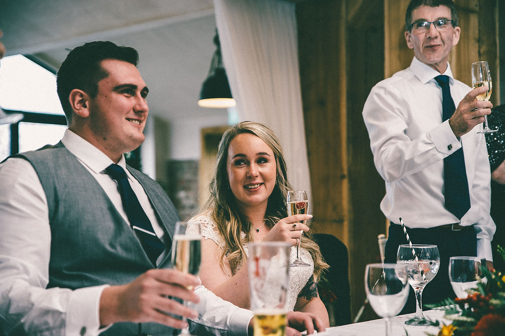 rustic wedding reception at the barn at willerby wedding venue