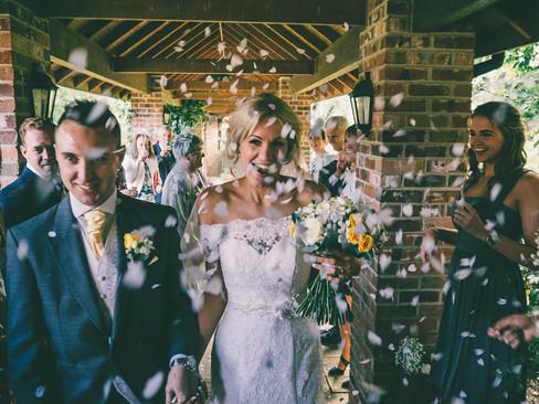 Summer Tickton Grange Wedding Photo confetti throw