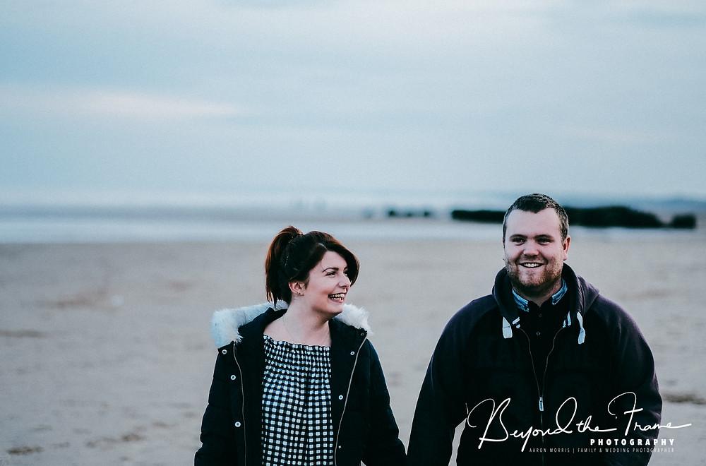 Michelle & Dvid's pre wedding Bridlington engagement photography