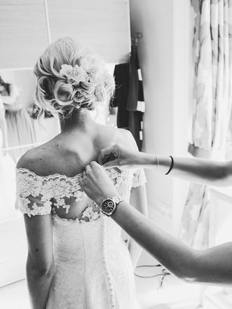 Summer Tickton Grange Wedding Photo bride getting ready