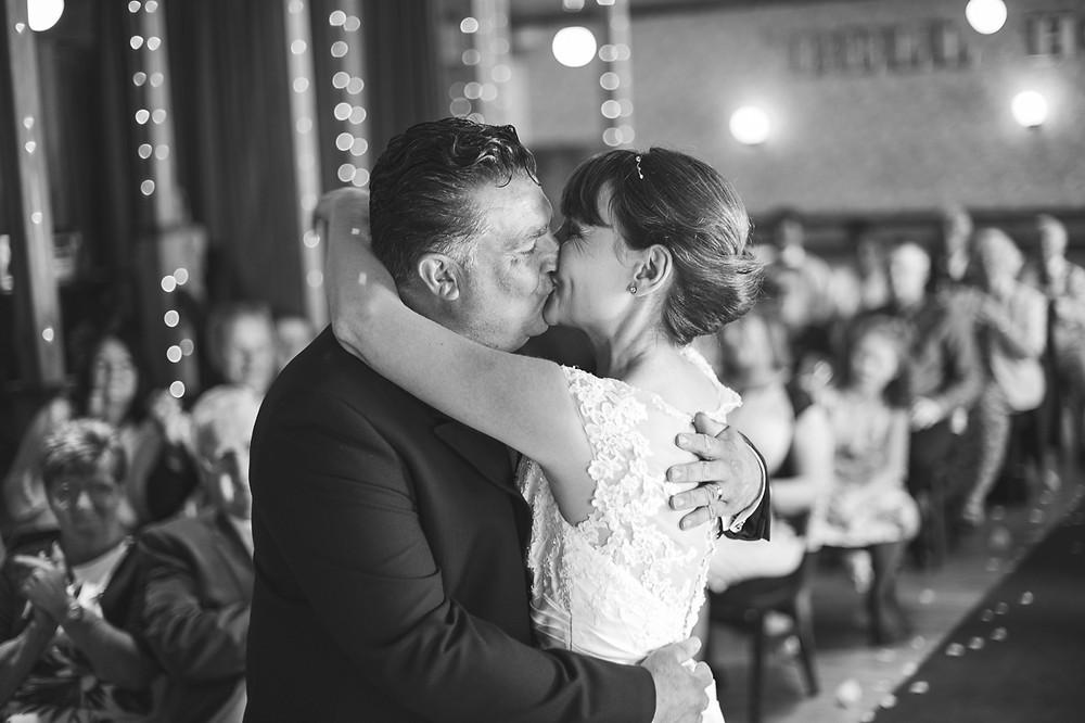 Driffield Wedding Photographer - happy couples first kiss - wedding photography driffield