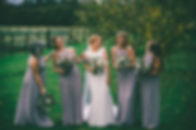bride and bridesmaids barn at willerby wedding photographer
