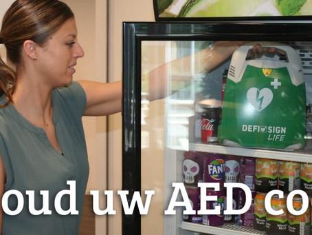 Ook AED's hebben last van de hitte!