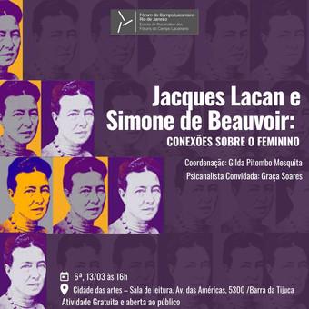 Jacques Lacan e Simone de Beauvoir :: Sexta-feira, 13 de março às 16h