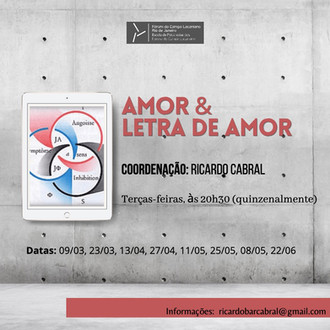 Amor & letra de amor :: terças-feiras, às 20h30 (quinzenalmente)
