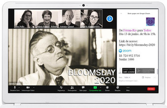 Bloomsday 2020 :: Sábado, 13 de junho, de 9h às 15 - Transmissão online