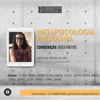 Metapsicologia freudiana :: quintas-feiras, às 11h