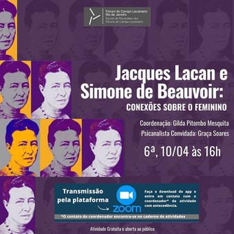 Jacques Lacan e Simone de Beauvoir :: Sexta-feira, 10 de abril, às 16h - Transmissão online pelo Ins