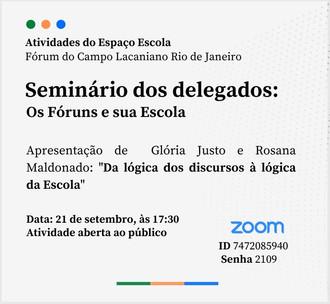 Seminário dos delegados :: Terça-feira 21 de setembro, 17h30