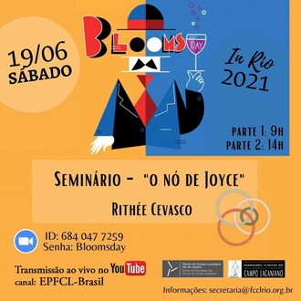 Bloomsday: Seminário - O nó de Joyce :: Sábado 19 de Junho, às 9h