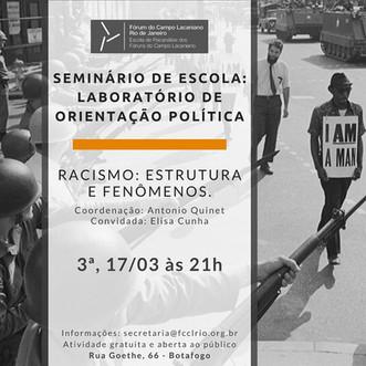 Seminário de Escola :: Terça-feira, 07 de abril, às 21h - Transmissão online