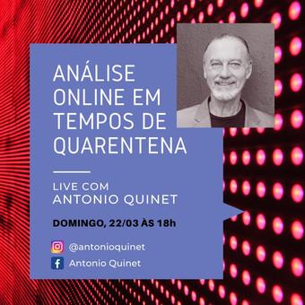 Análise online :: Live com Antonio Quinet :: Domingo, 22 de março às 18h