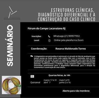 Seminário - Estruturas clínicas, diagnóstico diferencial e a construção do caso clínico