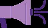 Icon of purple megaphone