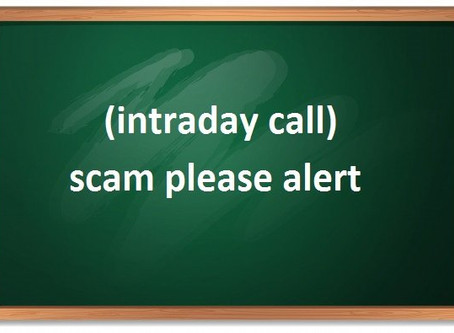 (intraday call) scam please alert