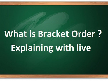 bracket order benefit in intraday trading – day trading
