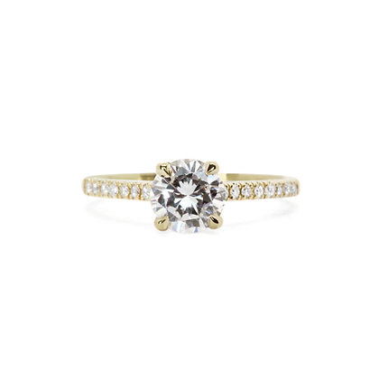 Diamond Accented Apex Engagement Ring