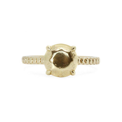 Golden Apex Pave Ring