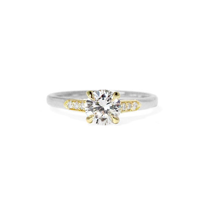Epaulette Engagement Ring
