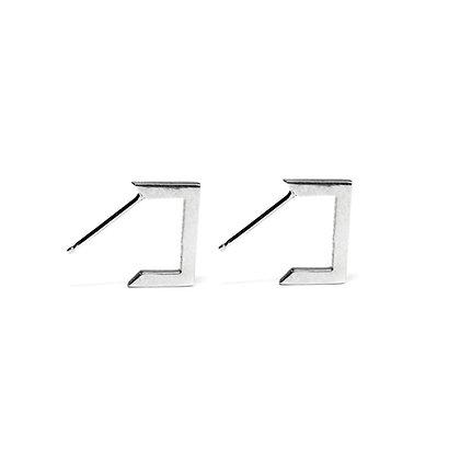 Apex Earrings Silver Classic