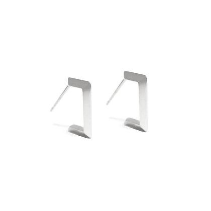 Sterling Silver Apex Knife Edge Earrings