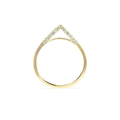 Side Diamond Apex Ring