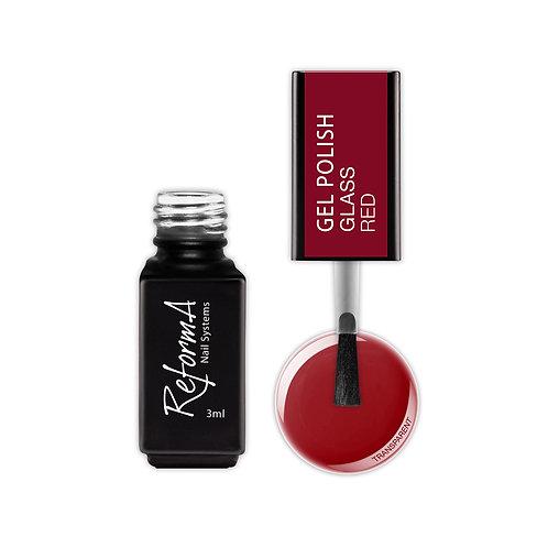 Gel Polish Glass- Red, 3ml