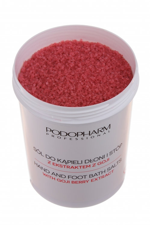 Hand and foot bath salts with goji berry extract