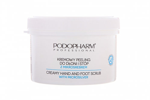 Creamy hand and foot scrub with microsilver