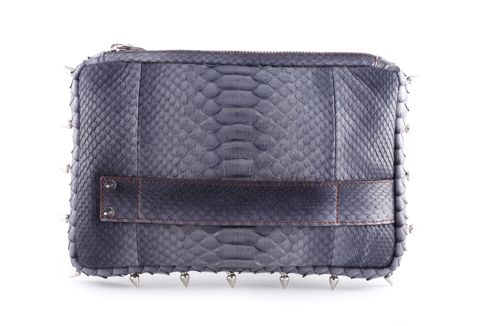 Spanish Python Studded Clutch