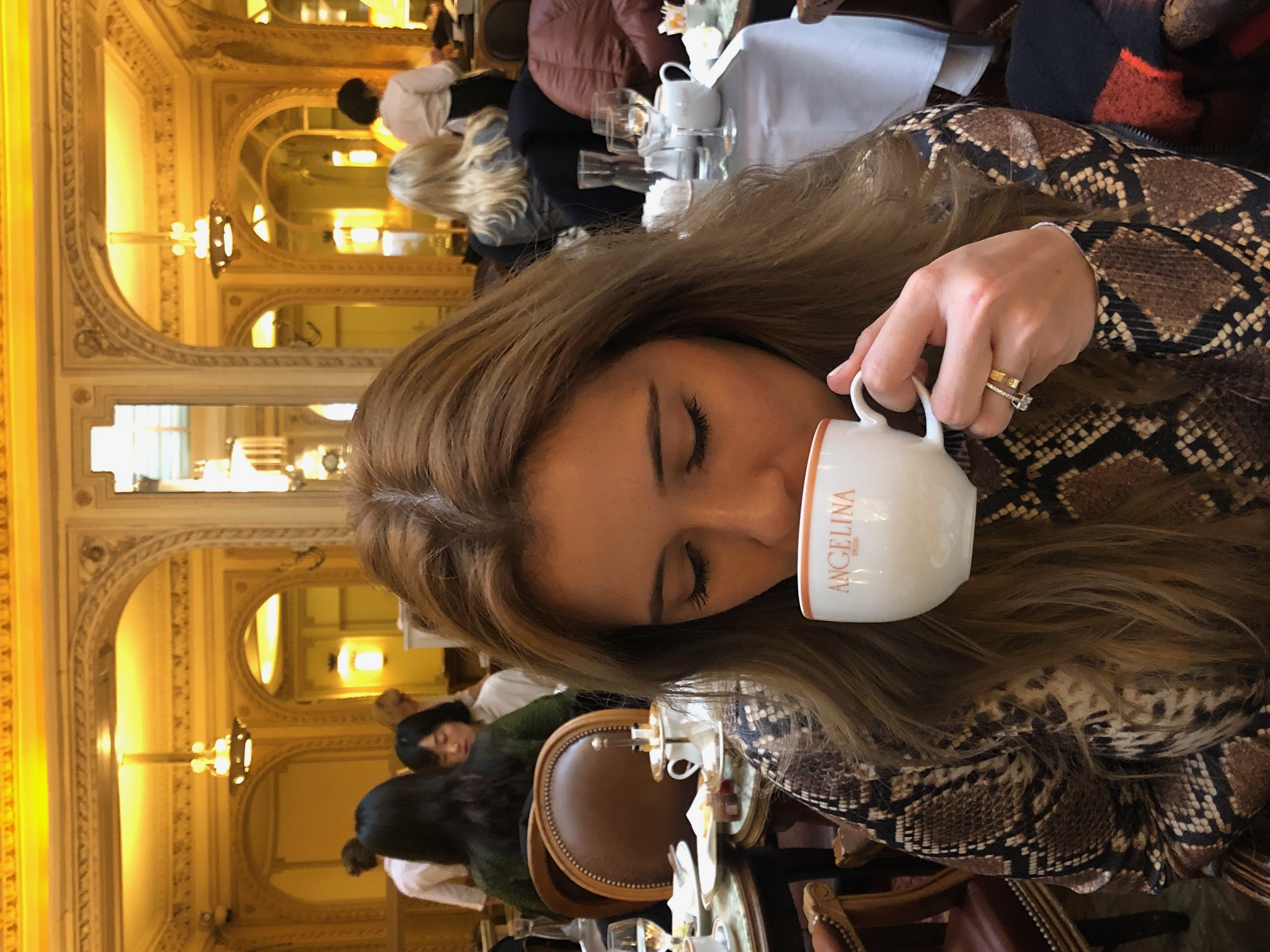 Coffee at Angelina in Paris