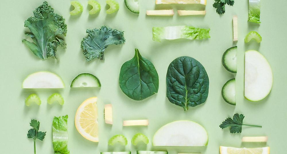 Healthy Green Food Pattern