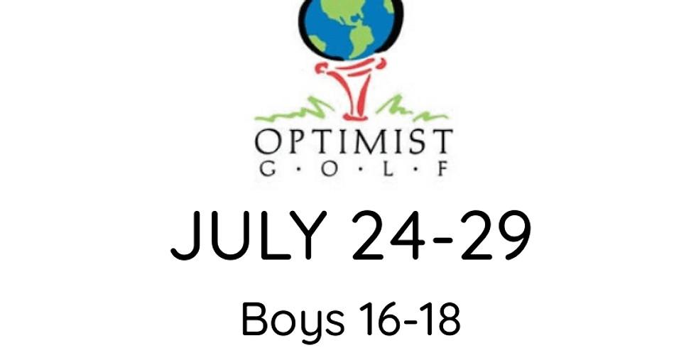 2021 OPTIMIST Jr. Golf Championship July 24-29 (Boys 16-18/Girls 15-18)